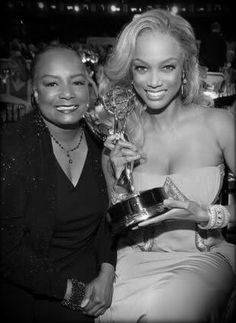 Tyra Banks & her Mommy