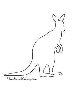 Kangaroo Silhouette Stencil | Free Stencil Gallery