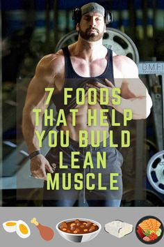 Nutrition and physical activity are critical if you wanna gain lean muscle. Without the proper nutritional support, your progress will stop. If your goal is to gain muscle, You should be exercising regularly and eating more calories each day from muscle-building foods. With that said, here are top 7 foods for gaining lean muscle mass. Muscle Mass, Gain Muscle, Build Muscle, Heavy Weight Lifting, Lift Heavy, Muscle Building Foods, Heavy Weights, High Protein Recipes, Best Diets
