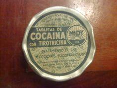 Pastillas de cocaína con tirotricina para la garganta.