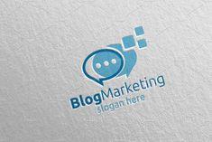 Blog Marketing Financial Logo 70 by denayunebgt on @creativemarket Marketing Logo, Financial Logo, Logos, Logo