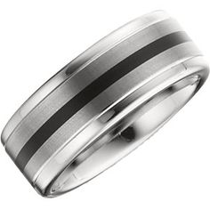 Enamel and satin finish men wedding band.  Available in all sizes!