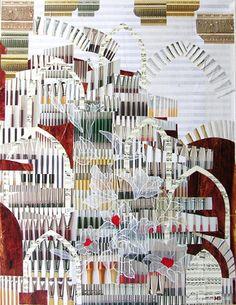 """Saatchi Online Artist Mariana Ionita; Assemblage / Collage, """"BACH"""" #art"""
