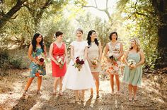 this is what I'm goin for w/ the bmaid dresses - - Handmade California Wedding: Sophie + Jonathan