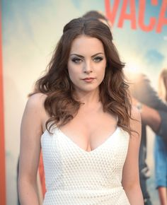 Elizabeth Gillies arrives at the Los Angeles Premiere 'Vacation' at Regency Village Theatre on July 27, 2015 in Westwood, California.