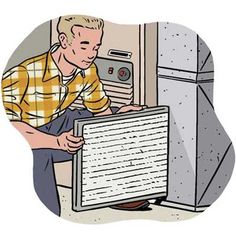 How to keep your central air and window air conditioning units in tip top shape so they work more efficiently and last longer.   Illustrations: Jason Schneider   thisoldhouse.com