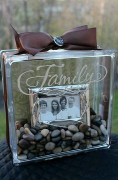 Family Glass Block