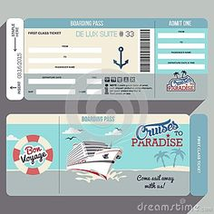 Boarding pass invitation template by AyleeBits.com   lucas 5th ...