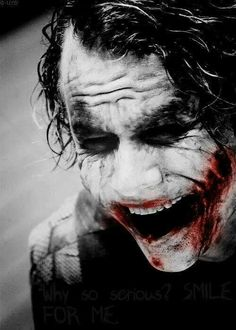 Introduce a little anarchy, upset the established order and everything becomes chaos. I'm an agent of chaos.