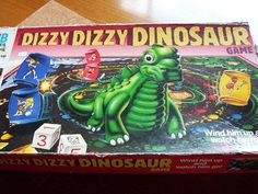 Dizzy Dizzy Dinosaur--played this at the flea market with my sisters while my parents tried to sell stuff