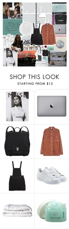 """""""☽ speed increases, pressure decreases"""" by ilikemykupcakes ❤ liked on Polyvore featuring Kenzie, Chanel, Proenza Schouler, Monki, adidas Originals, Brinkhaus, Topshop, Minus 417, sugarcubesets and gottatagrandomn3ss"""
