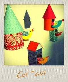 Créez avec vos enfants de jolies petites cabanes à oiseaux avec des objets à recycler ! Découvrez tous les autres ateliers C-MonEtiquette.