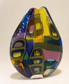 CRYSTALIS 2014 Glass Vessel, Glass Art, Cast Glass, Unusual Art, Bottle Art, Colored Glass, Glass Bottles, Fused Glass, Art Pieces