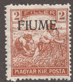 Fiume, Hungarian stamp
