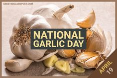 Celebrate National Garlic Day on April 19 in style with this collection of fun facts, jokes, quotes, and captions on garlic. #garlic #captions #jokes