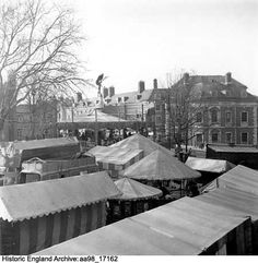 Easter Fair on the site of the cattle market, Norwich, Norfolk Date 25 Mar 1948 Photographer: Hallam Ashley Norwich Norfolk, Historical Images, Cattle, England, Easter, Gado Gado, Easter Activities, English