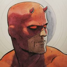 Marvel Fan Art, Marvel Comics Art, Marvel Heroes, Comic Book Heroes, Comic Books Art, Comic Art, Daredevil Punisher, Daredevil Artwork, Comic Kunst