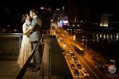 Wedding held at National Museum of American Jewish History - wedding photos on the terrace overlooking historic Philadelphia