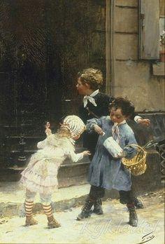 Henry Jules Jean Geoffroy (French, 1853–1924) Le paquet de bonbons
