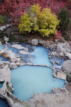 Hot springs in Utah