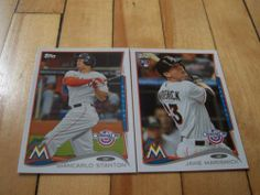 Giancarlo Stanton Jake Marisnick RC 2014 Topps Opening Day Marlins 2 Card Lot | eBay