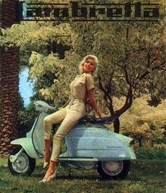 jspong: Jayne Mansfield for Lambretta scooters. Piaggio Scooter, Moto Scooter, Vespa Scooters, Jayne Mansfield, Vintage Vespa, Vintage Cars, Vintage Images, Vespa Girl, Scooter Girl