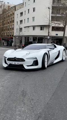 This is the Citroën GT! This car was designed originally for the Playstation game Gran Turismo. It's an electric supercar in the game, but as you'll see, there are some differences in real life! Luxury Sports Cars, Top Luxury Cars, Exotic Sports Cars, Exotic Cars, Luxury Suv, Carros Lamborghini, Lamborghini Cars, Lamborghini Gallardo, Bugatti