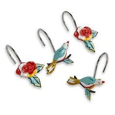LENOX Chirp Shower Curtain Hooks Hooks $18 BEST PRICE GUARANTEE FREE WORLD SHIPPING (LOCAL ORDER PICK UP IS ALSO AVAILABLE & GET 20% OFF)
