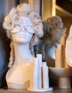 The Frenchy Powdered Wig. $185.00, via Etsy.