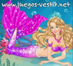Barbie #sirena es una bella #princesa de los mares que le encanta ir con sus amigos, los delfines #juegosdevestir   #juegosdebarbie    http://www.juegos-vestir.net/jugar/barbie-sirena-y-los-delfines