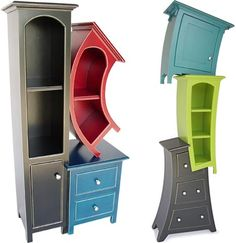quirky storage, perfect for an Alice in Wonderland room.