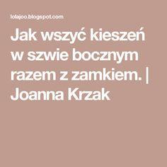 Jak wszyć kieszeń w szwie bocznym razem z zamkiem.   Joanna Krzak