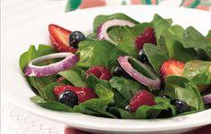 Tri-Berry Spinach Salad Recipe