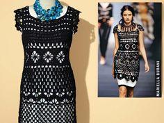 Schwarzes Kleid selber häkeln Mehr