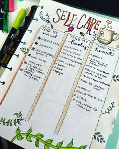 Bullet Journal Self-Care Page Ideas Bullet Journal Self-Care Page Ideas. Here are bullet journal pages to help you include self-care in your daily routine through daily habit trackers, self-care collection lists, gratitude logs, mood trackers and more. Self Care Bullet Journal, Bullet Journal Notebook, Bullet Journal Inspo, Bullet Journal Spread, Bullet Journal Ideas Pages, Bullet Journal Layout, Bullet Journals, Journal Pages, Art Journals