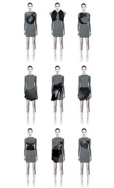 Fashion Sketchbook - fashion illustrations; line up; fashion portfolio // Alexandra McGough