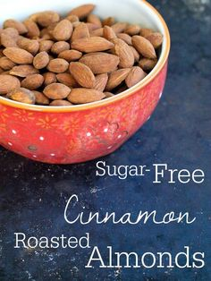 Sugar Free Cinnamon Roasted Almonds from Happy Healthy Mama.  This easy and healthy recipe will make your house smell delicious!!