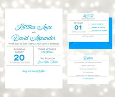 Modern Typography Dots Wedding Invitation Suite - Edit and Print at Home using Adobe Reader - Editable PDFs - Instant Download by AntonDigitalDesigns on Etsy