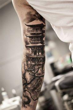 China Haus Tattoo Arm