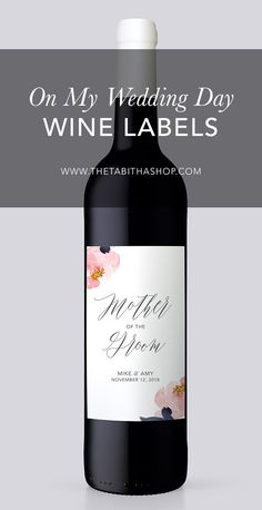 Looking for a father of the bride gift? This wine label is perfect to adhere to your dad's favorite wine. Simply soak the bottle in hot water, peel or scrape off the label, then slap on this new personalized one. It'll be a bottle he'll keep forever!