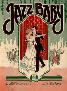 """1920s Piano Sheet Music """"Jazz Baby"""""""