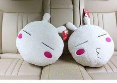 Bunny head pillows Bunny Plush, Cushions, Pillows, Hello Kitty, Birthday Gifts, Rabbit, Character, Art, Throw Pillows