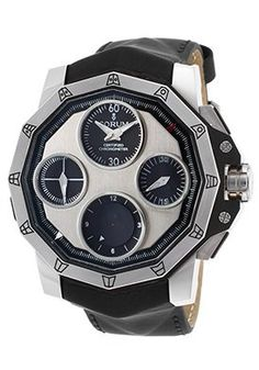Men's Admiral's Cup Seafender Ltd Ed Auto Chrono Blk Leather Titanium