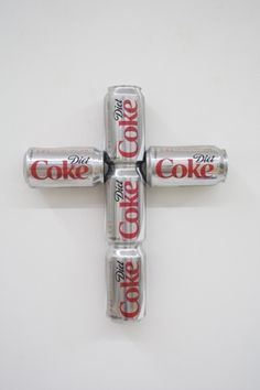 "Tony Tasset, at Kavi Gupta Gallery, ""Diet Coke Can Cross"""