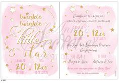 Προσκλητήριο βάπτισης twinkle little star Little Star, Twinkle Twinkle, Stars, Sterne, Star