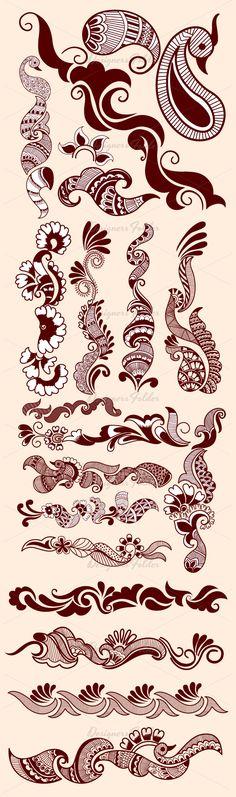 Mehandi Designs Henna Tatoos, Mehandi Henna, Jagua Henna, Henna Art, Tattoos, Arte Mehndi, Arabic Mehndi, Henna Designs Easy, Henna Tattoo Designs