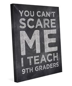 Another great find on #zulily! Chalkboard 'You Can't Scare Me' Personalized Wrapped Canvas #zulilyfinds