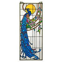 """""""Peacock's Sunset"""" Stained Glass Window"""