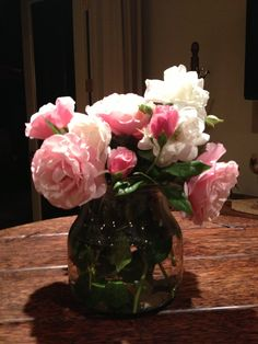 Roses pink one is  Lady Blair patent by Caroline Gerardo disease resistant, requires no chemical spraying, reblooms from July to November repeated without fertilizer. Is a vigorous grower with thorns and a vanilla smell