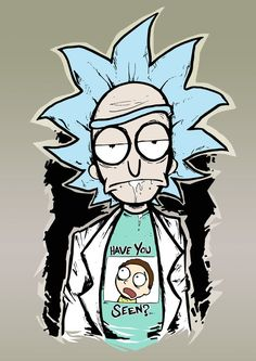 Rick and Morty Print by Destroyyourhead Adult Cartoons, Cool Cartoons, Ricky Y Morty, Rick And Morty Drawing, Rick And Morty Stickers, Rick And Morty Poster, Pics Art, Cool Art, Graffiti